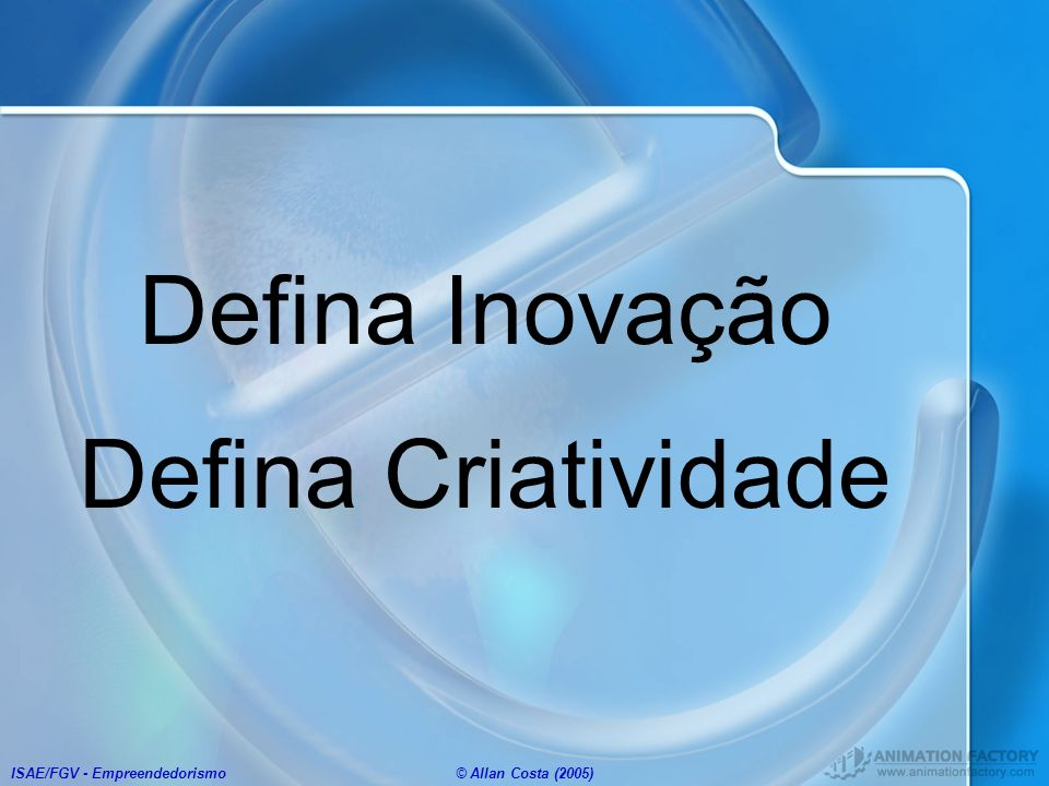 Defina Inovação Defina Criatividade