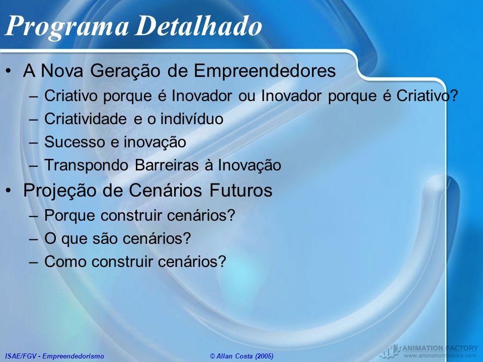 Programa Detalhado A Nova Geração de Empreendedores