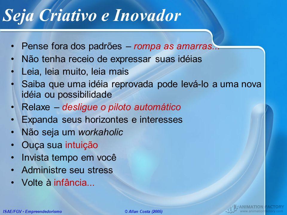 Seja Criativo e Inovador