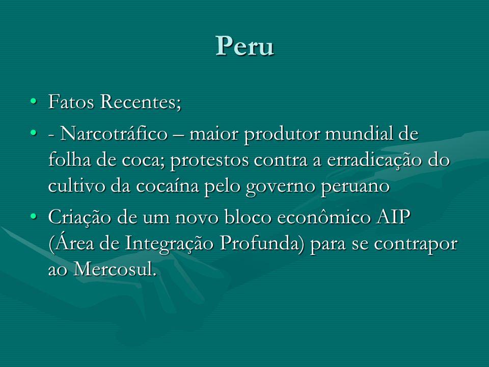 Peru Fatos Recentes;