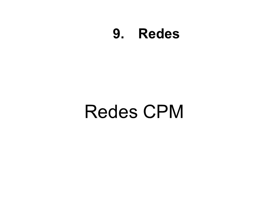 Redes Redes CPM