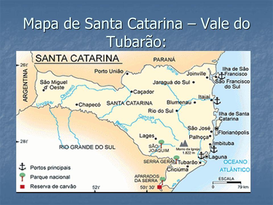 Mapa de Santa Catarina – Vale do Tubarão: