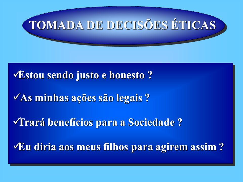 TOMADA DE DECISÕES ÉTICAS