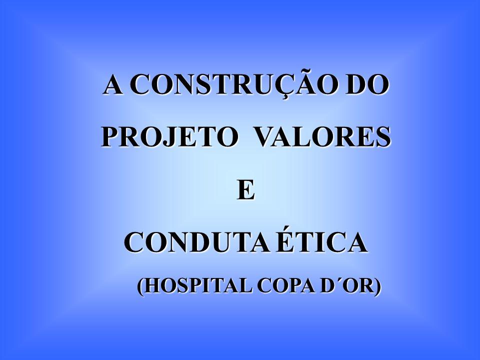 A CONSTRUÇÃO DO PROJETO VALORES E CONDUTA ÉTICA