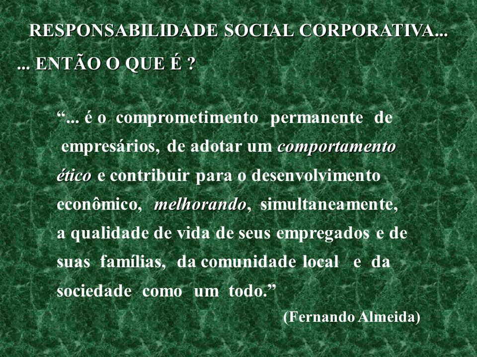 RESPONSABILIDADE SOCIAL CORPORATIVA...