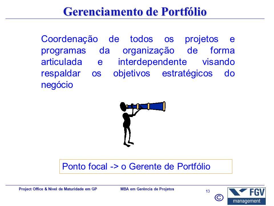Gerenciamento de Portfólio