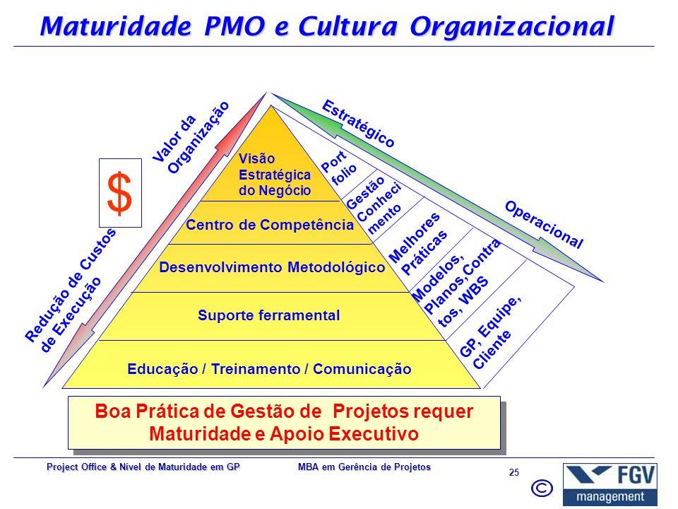 Maturidade PMO e Cultura Organizacional