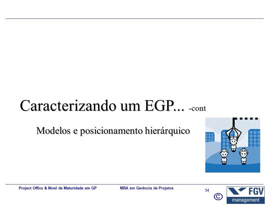 Caracterizando um EGP... -cont