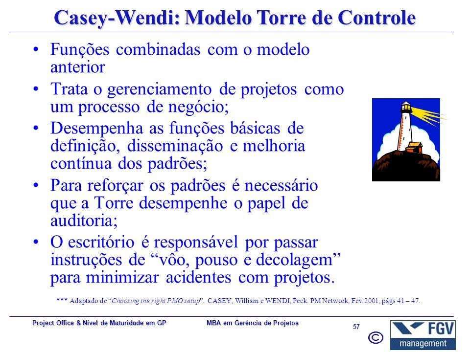 Casey-Wendi: Modelo Torre de Controle