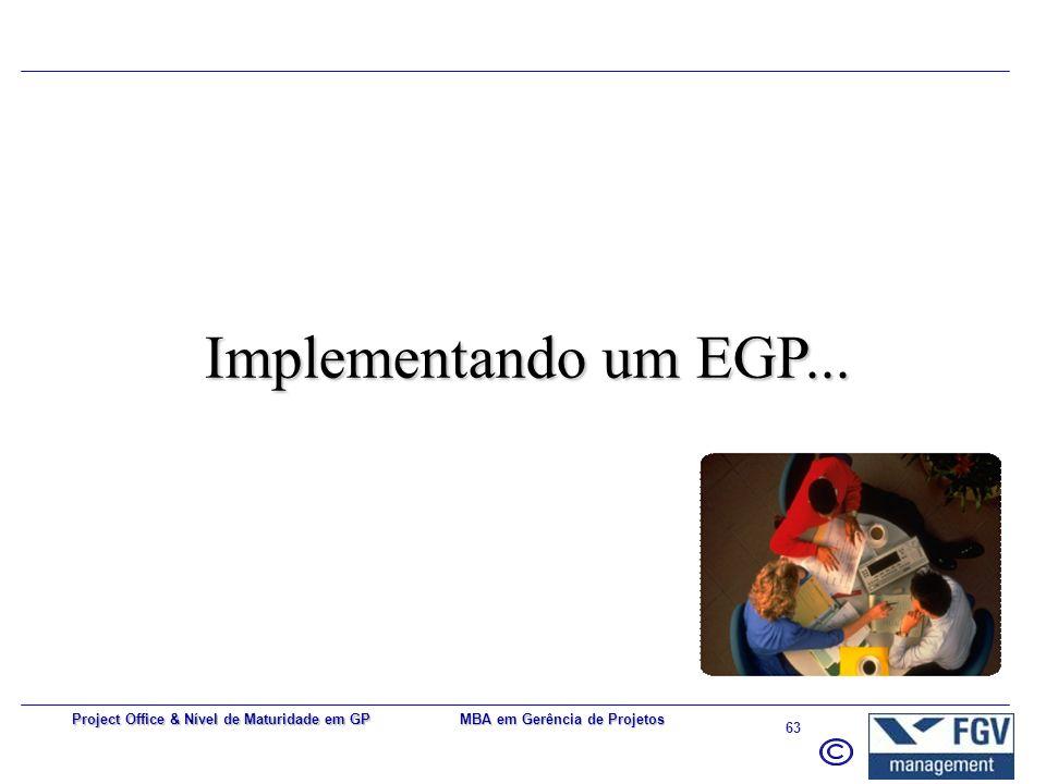 Implementando um EGP... Project Office & Nível de Maturidade em GP