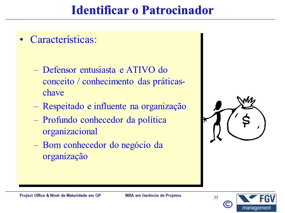 Identificar o Patrocinador
