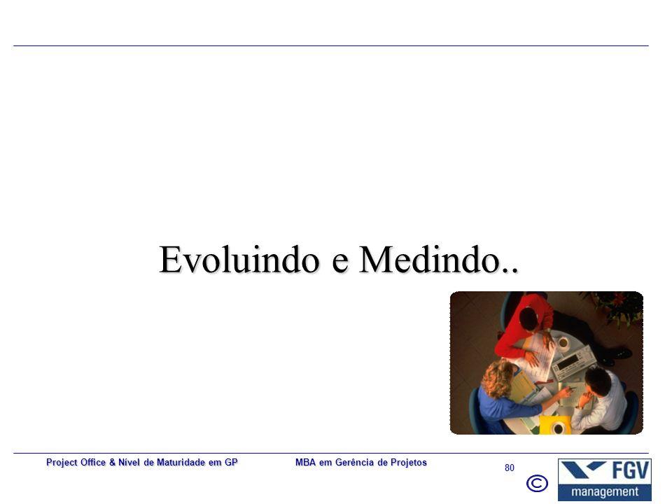 Evoluindo e Medindo.. Project Office & Nível de Maturidade em GP