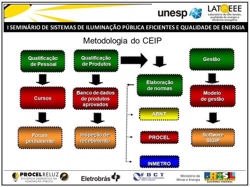 Metodologia do CEIP Gestão Qualificação de Pessoal Qualificação