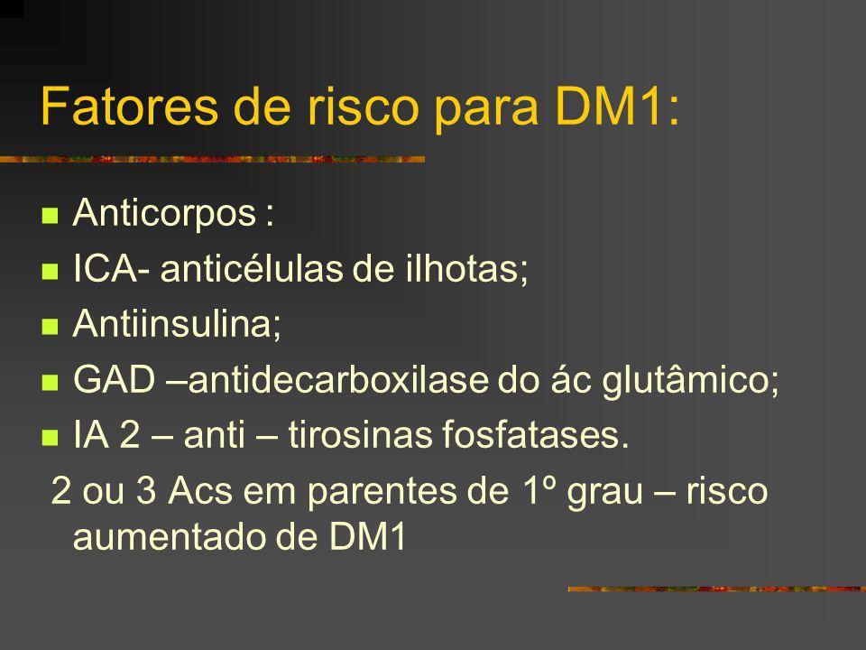 Fatores de risco para DM1: