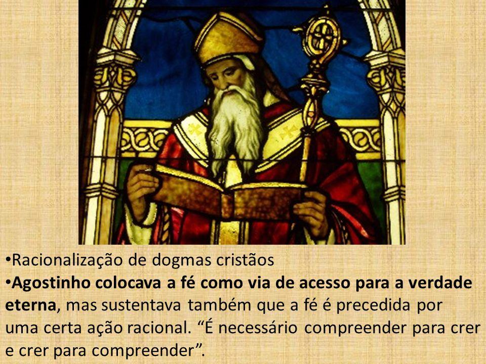 Racionalização de dogmas cristãos.