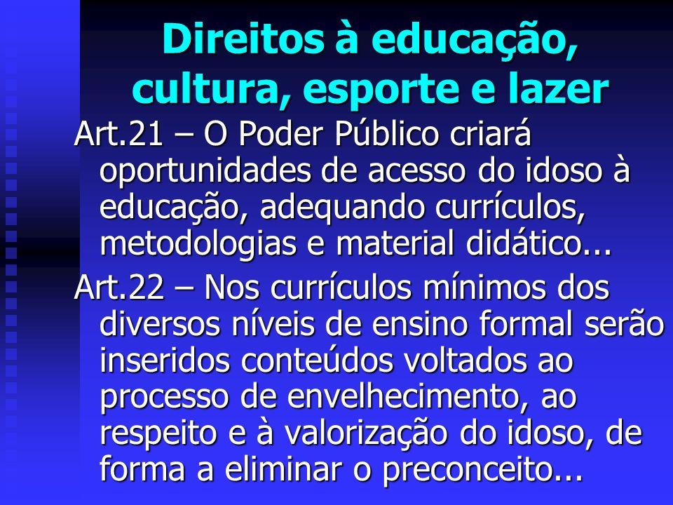 Direitos à educação, cultura, esporte e lazer