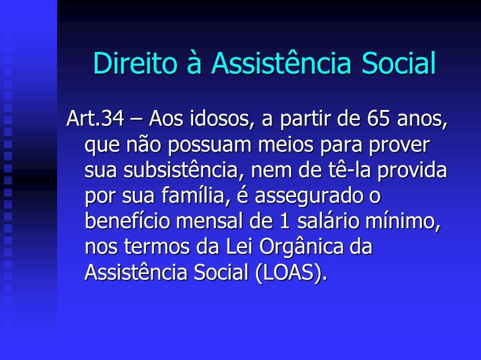 Direito à Assistência Social
