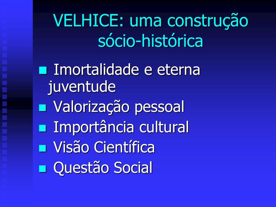 VELHICE: uma construção sócio-histórica