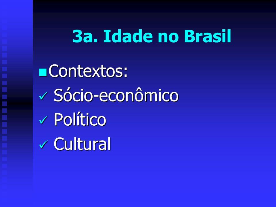 3a. Idade no Brasil Contextos: Sócio-econômico Político Cultural