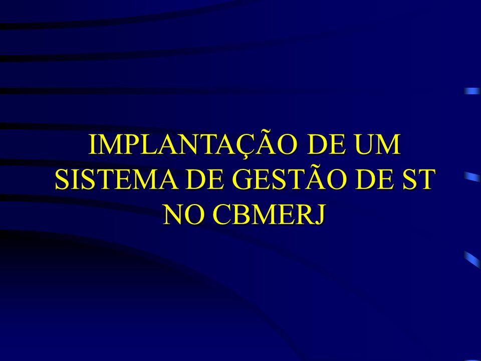 IMPLANTAÇÃO DE UM SISTEMA DE GESTÃO DE ST