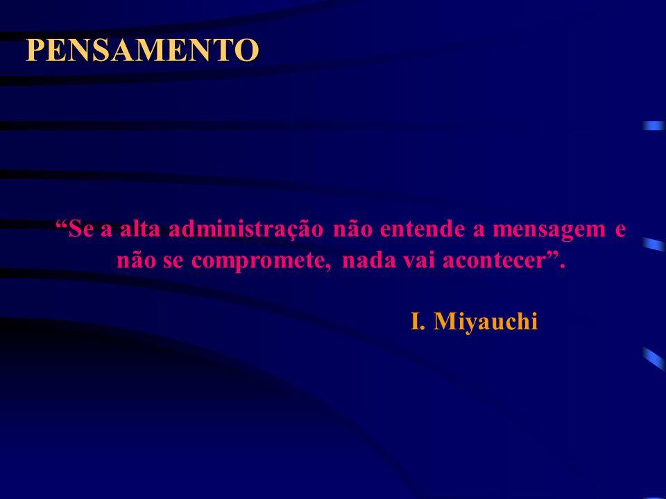 PENSAMENTO Se a alta administração não entende a mensagem e não se compromete, nada vai acontecer .