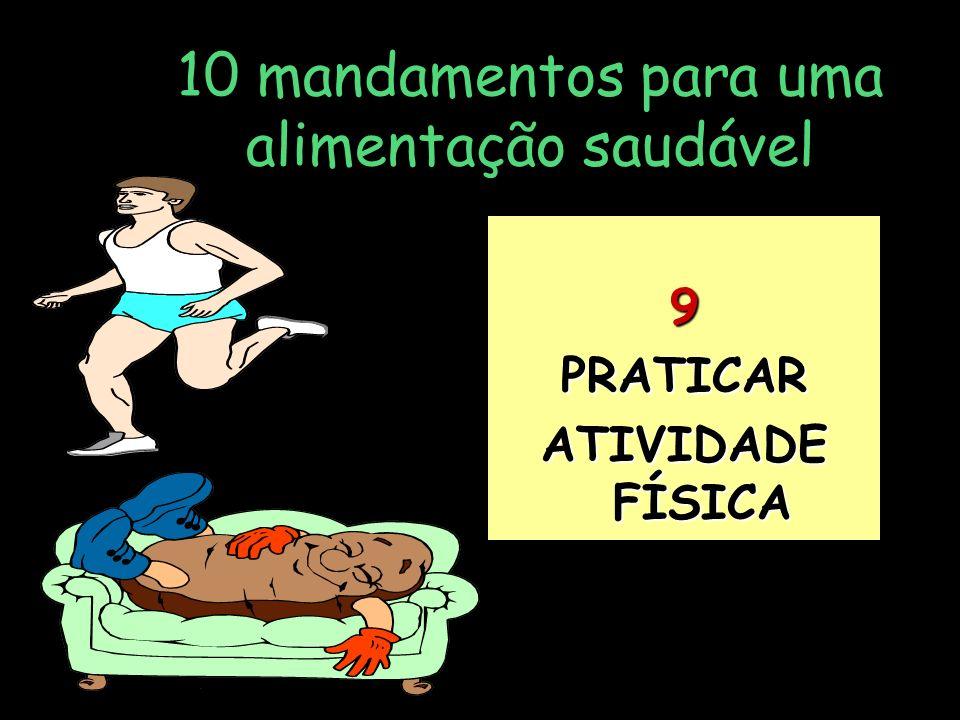 10 mandamentos para uma alimentação saudável