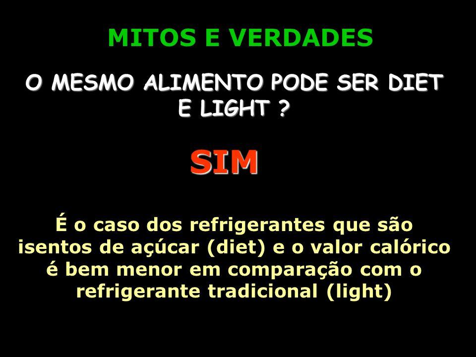 O MESMO ALIMENTO PODE SER DIET E LIGHT