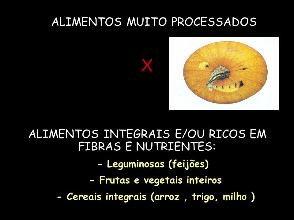 X ALIMENTOS MUITO PROCESSADOS