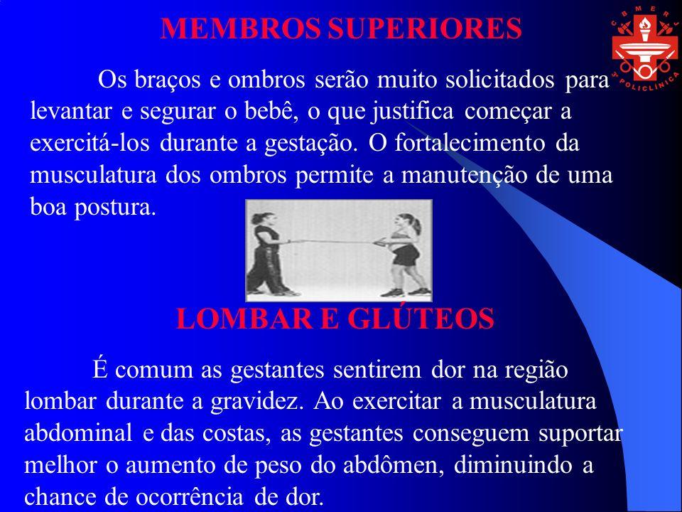 MEMBROS SUPERIORES LOMBAR E GLÚTEOS