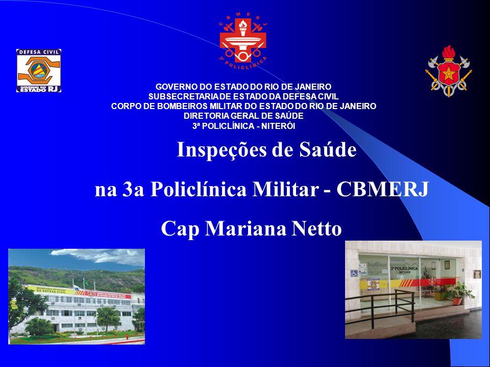 Inspeções de Saúde na 3a Policlínica Militar - CBMERJ