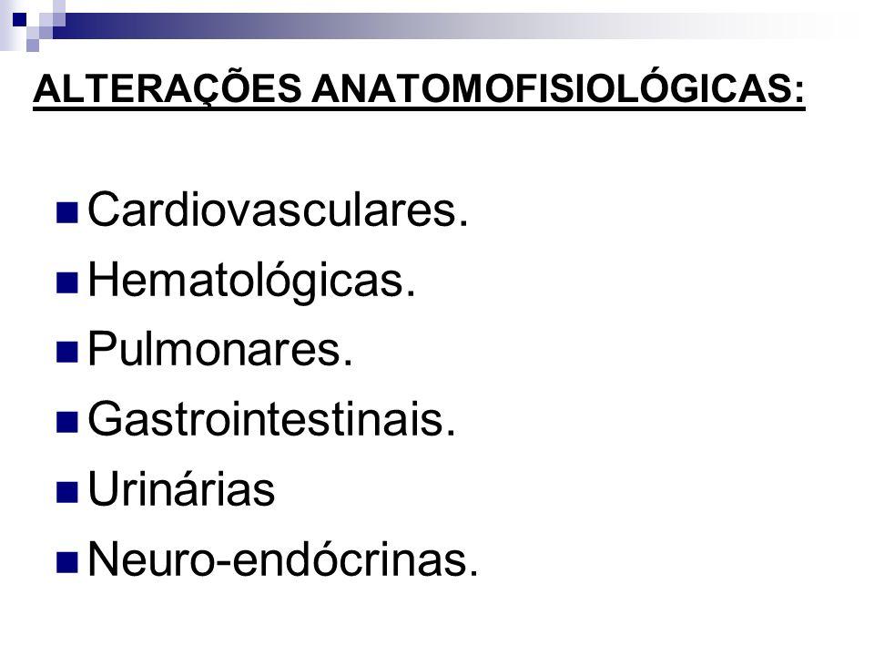 ALTERAÇÕES ANATOMOFISIOLÓGICAS: