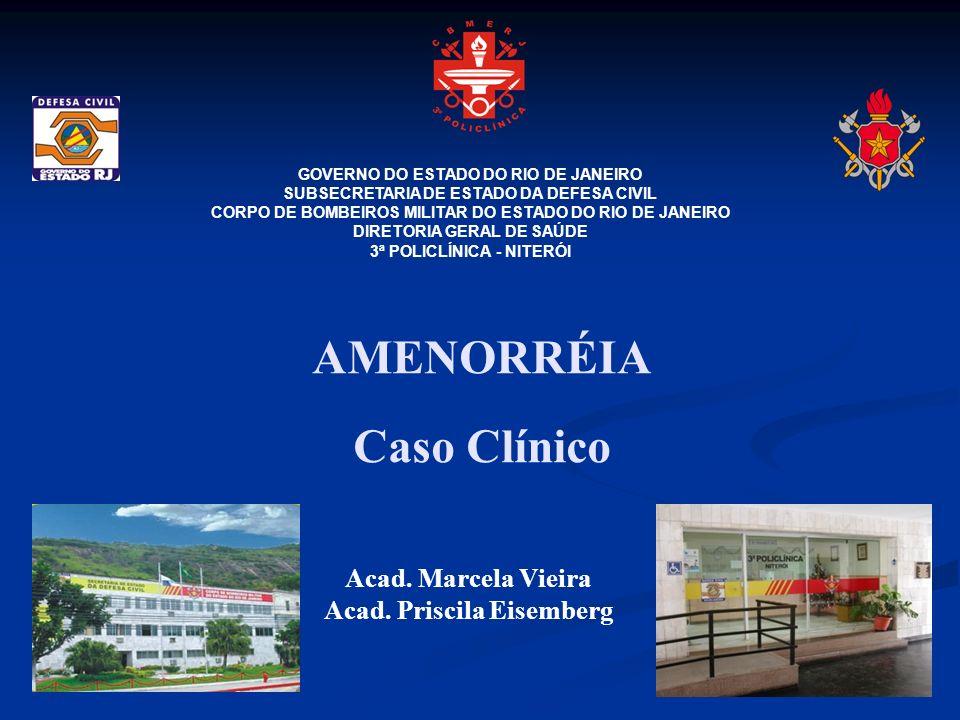 AMENORRÉIA Caso Clínico