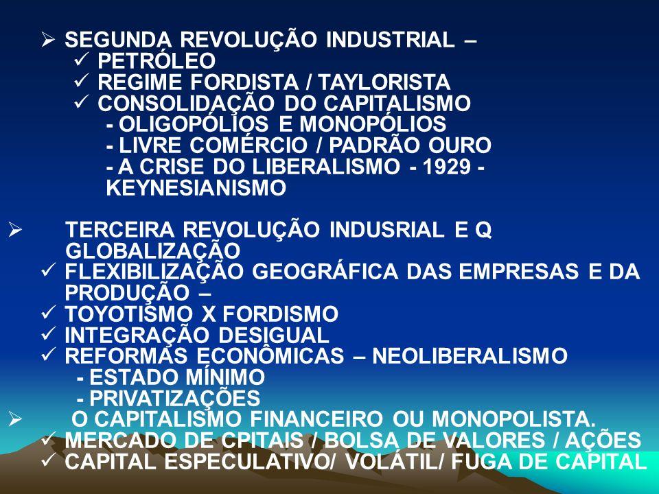 SEGUNDA REVOLUÇÃO INDUSTRIAL –