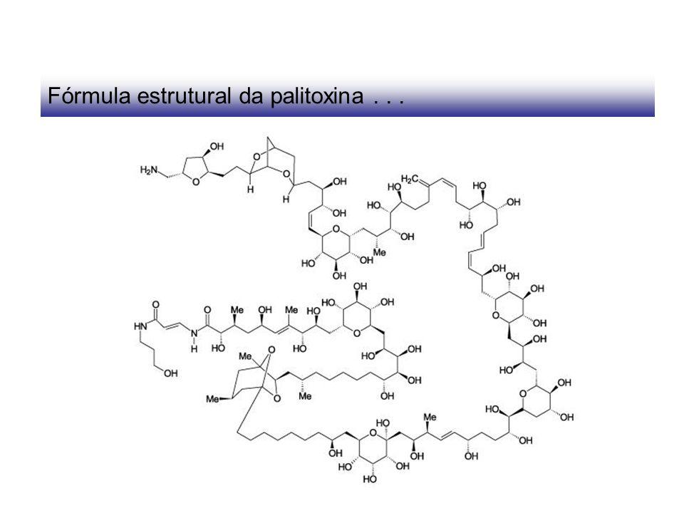 Fórmula estrutural da palitoxina . . .