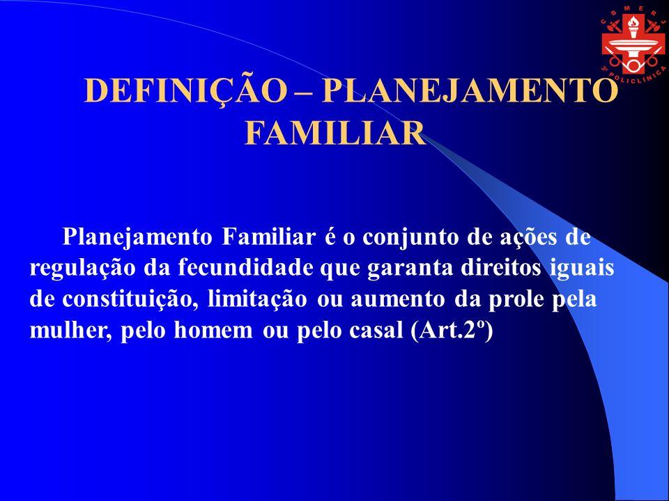 DEFINIÇÃO – PLANEJAMENTO FAMILIAR