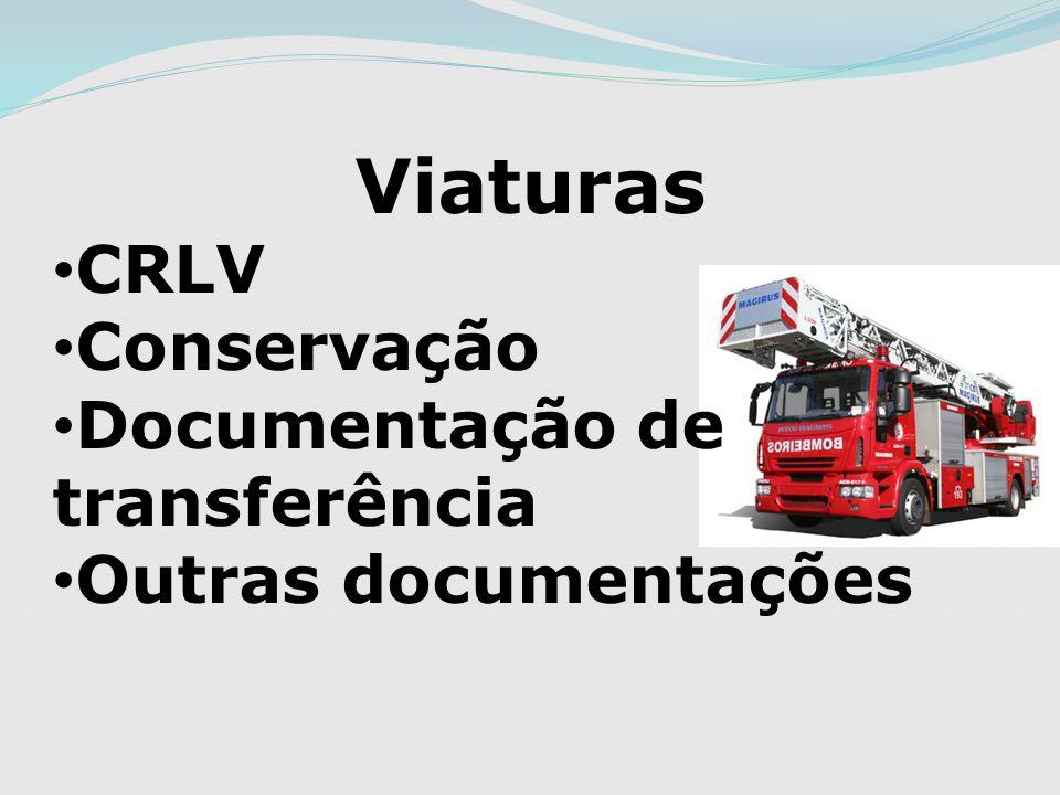 Viaturas CRLV Conservação Documentação de transferência