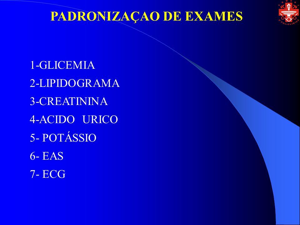 PADRONIZAÇAO DE EXAMES