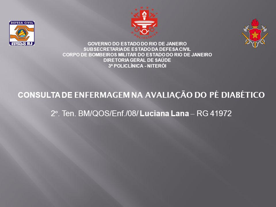 CONSULTA DE ENFERMAGEM NA AVALIAÇÃO DO PÉ DIABÉTICO