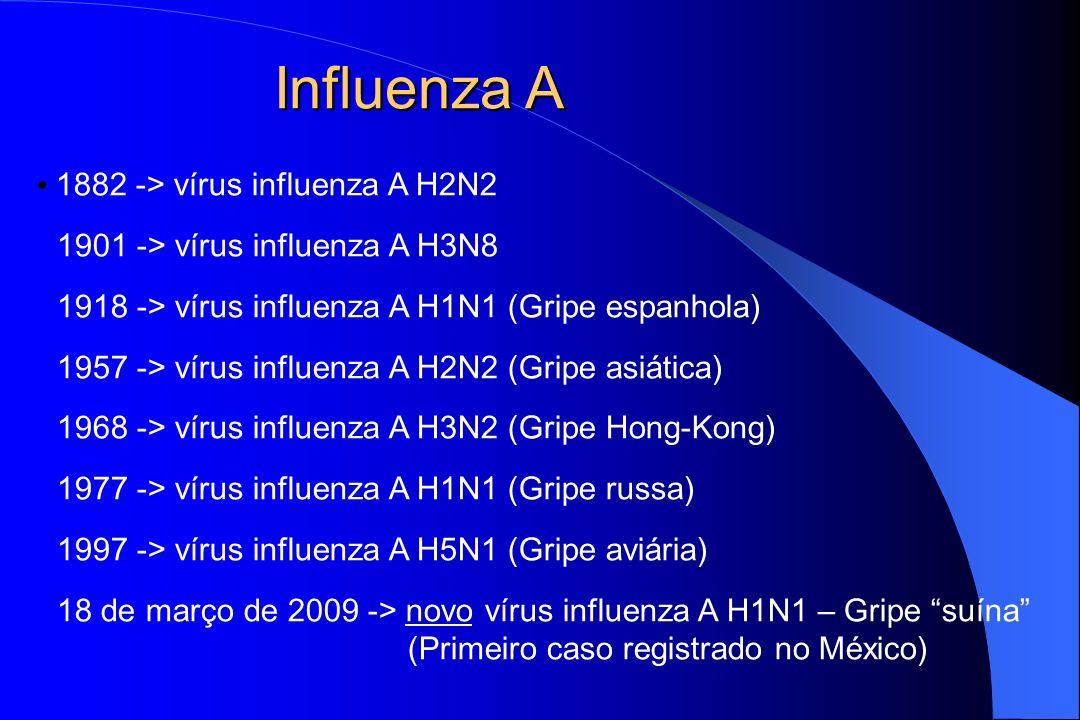 Influenza A 1882 -> vírus influenza A H2N2