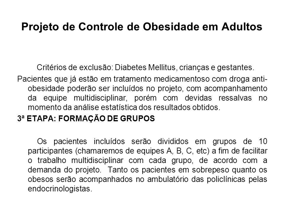 Projeto de Controle de Obesidade em Adultos