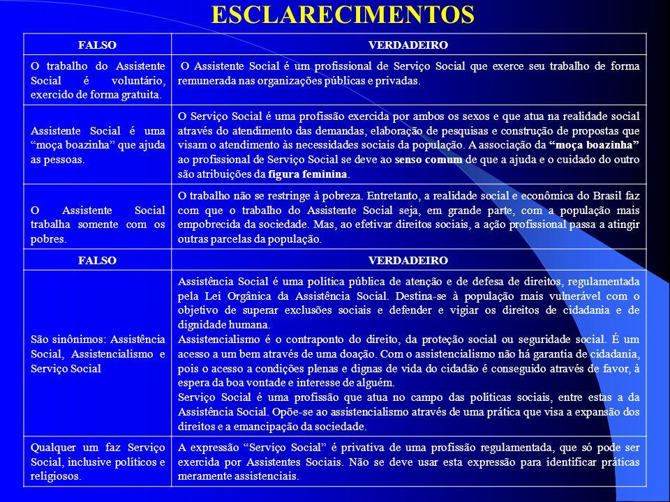 ESCLARECIMENTOS FALSO VERDADEIRO