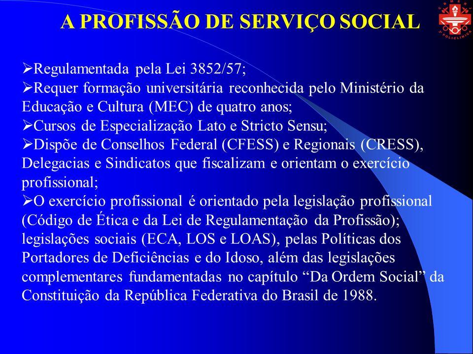 A PROFISSÃO DE SERVIÇO SOCIAL