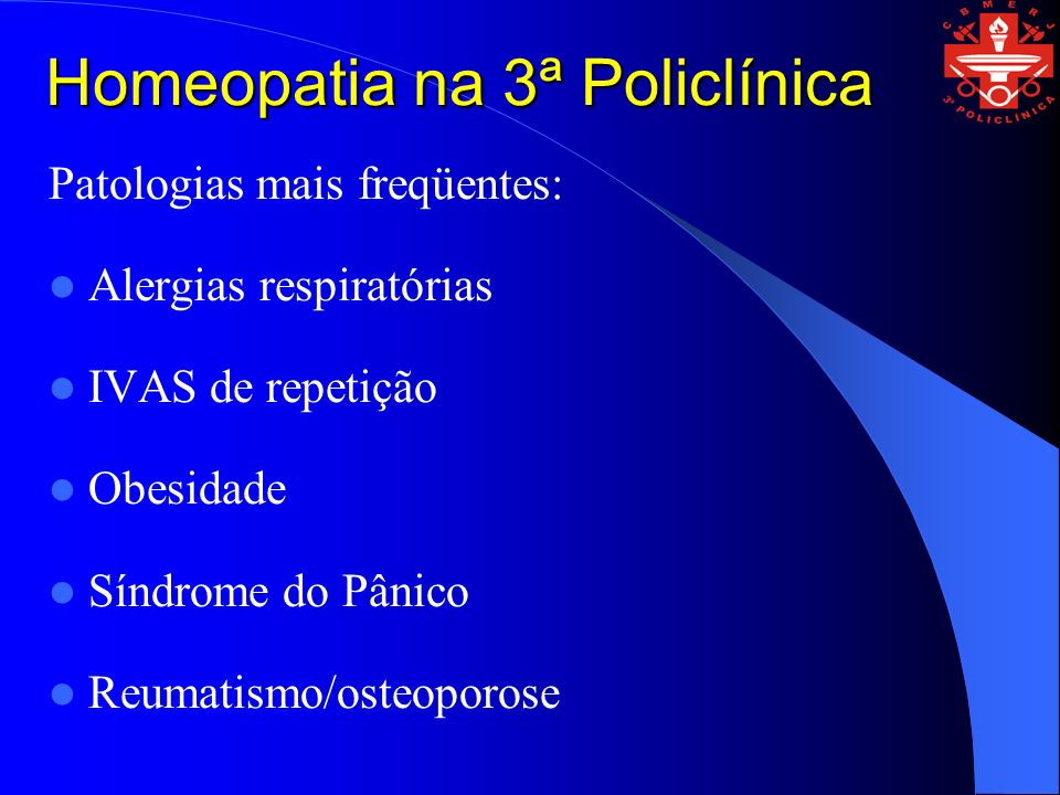 Homeopatia na 3ª Policlínica