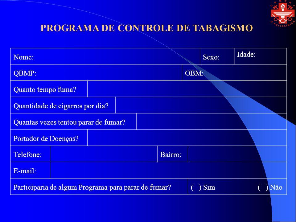 PROGRAMA DE CONTROLE DE TABAGISMO