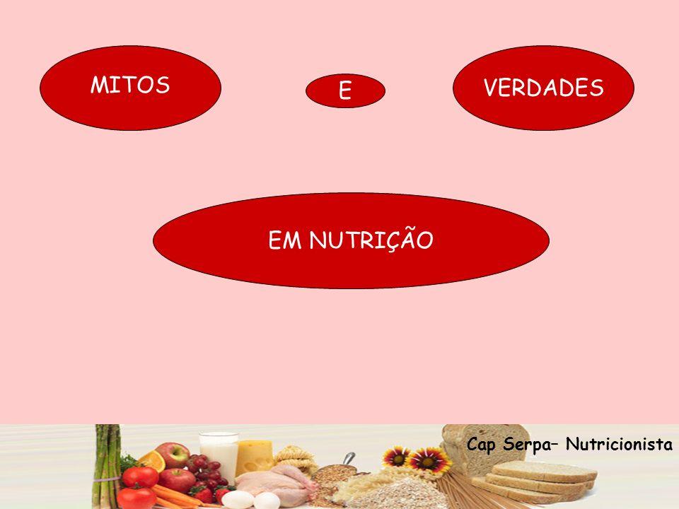 VERDADES MITOS E EM NUTRIÇÃO Cap Serpa– Nutricionista