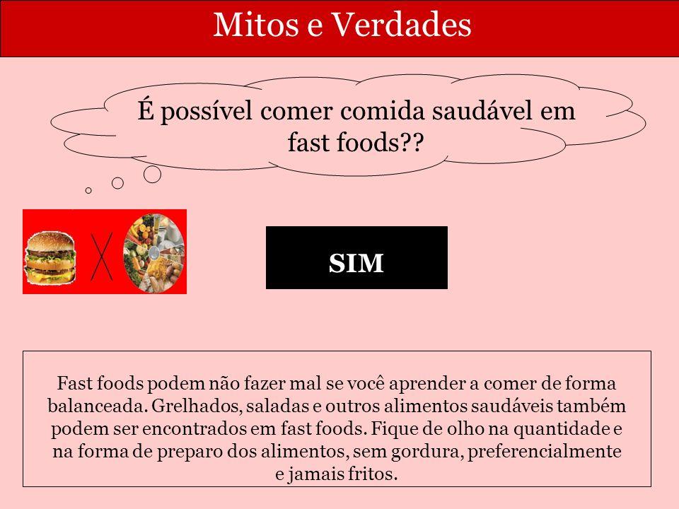 É possível comer comida saudável em fast foods