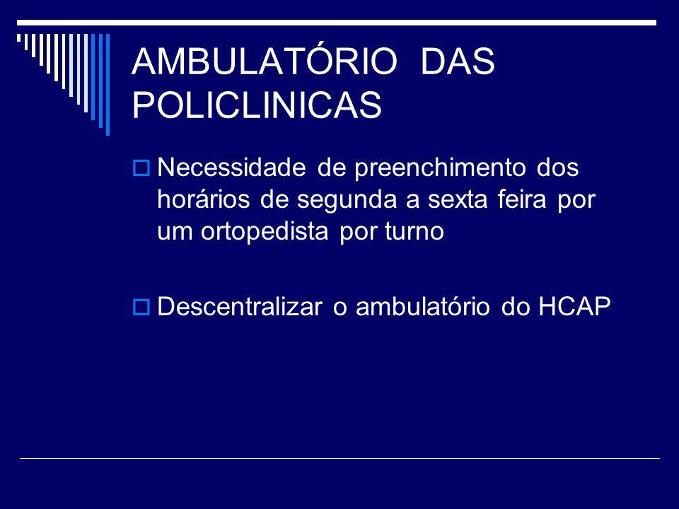 AMBULATÓRIO DAS POLICLINICAS