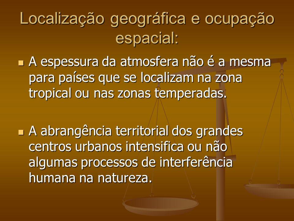 Localização geográfica e ocupação espacial: