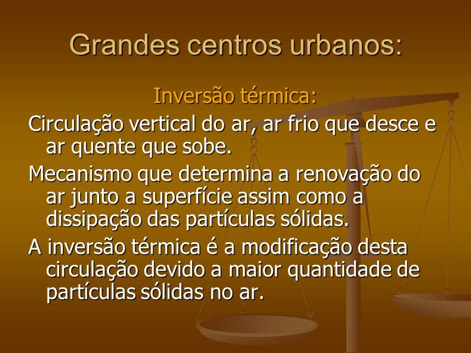 Grandes centros urbanos: