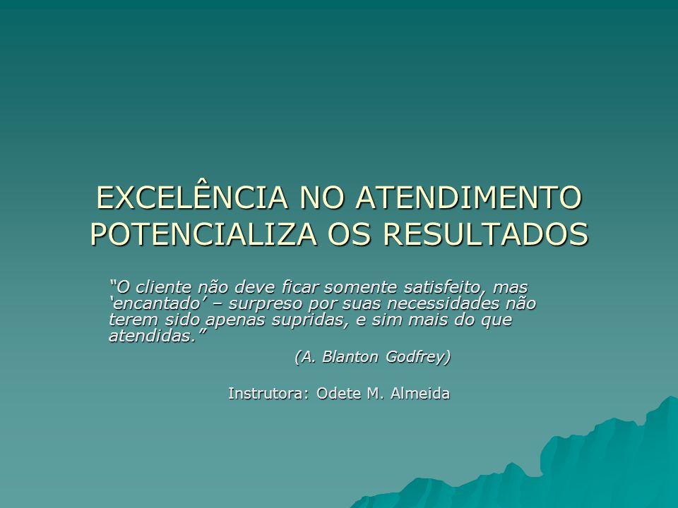 EXCELÊNCIA NO ATENDIMENTO POTENCIALIZA OS RESULTADOS